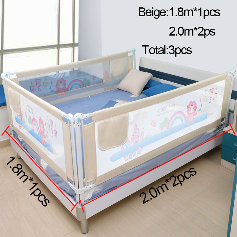 Baby Bed Fence Home Kids Playpen Safety Gate Products Child Care Barrier For Beds Crib Rails Security Fencing Children Guardrail Hangseven